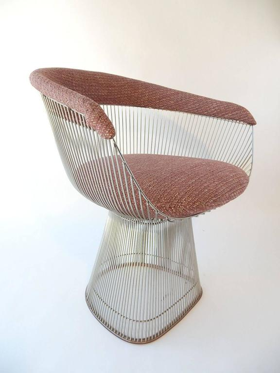Late 20th Century Mid-Century Modern Warren Platner for Knoll Chrome Dining Chairs For Sale