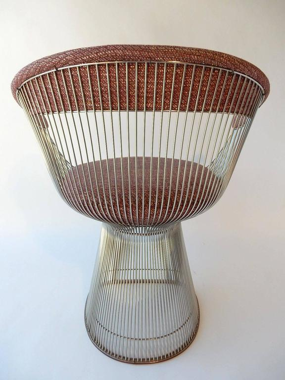 Mid-Century Modern Warren Platner for Knoll Chrome Dining Chairs For Sale 1