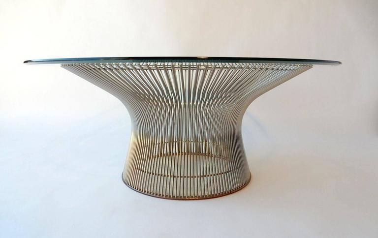 Warren Platner for Knoll Chrome Wire Coffee Table Mid-Century ...