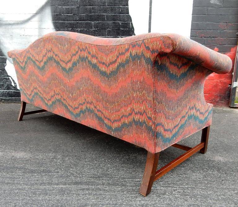 Missoni Home 3 Seat Sofa Gravita: Regency Chippendale Camelback Sofa In Missoni Inspired