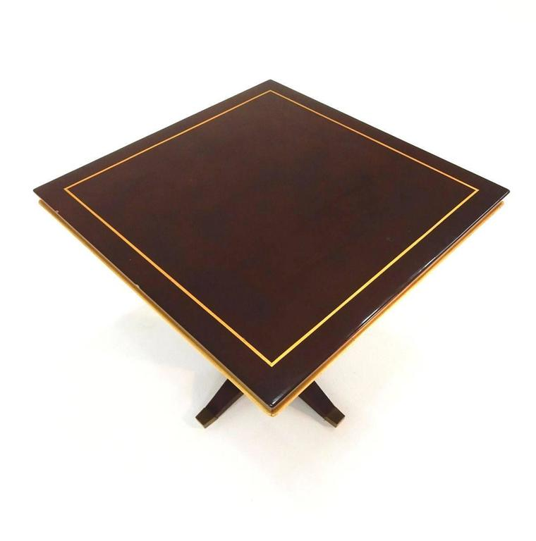 French art deco batistin spade paris lacquered and bronze tables at 1stdibs - Deco table paris ...