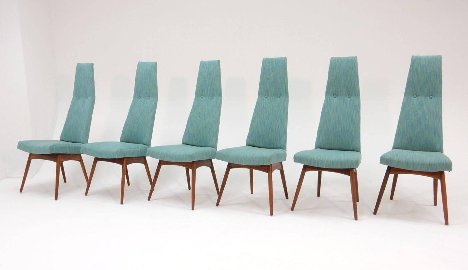 Mid Century Modern Adrian Pearsall Tall Back Dining Chairs Set Of Six For Sal