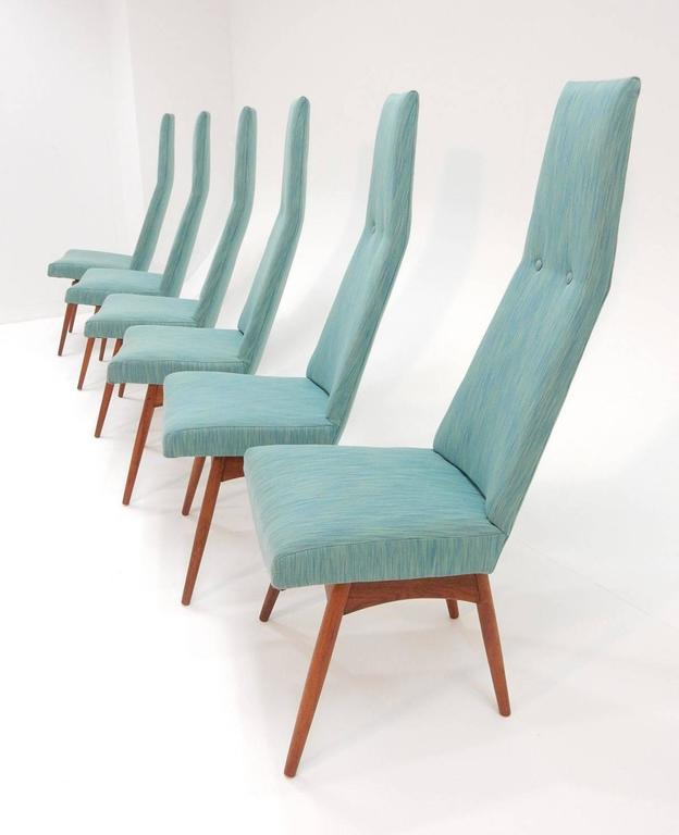 Mid-Century Modern Adrian Pearsall Tall Back Dining Chairs Set of Six For Sale 4