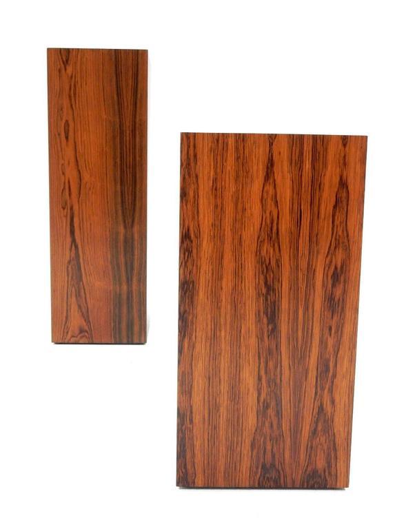 1966 Harvey Probber Custom Rosewood Pedestal Tables Set Of Two At 1stdibs