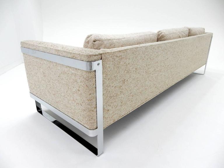 1970s Milo Baughman Chrome Sofa 6