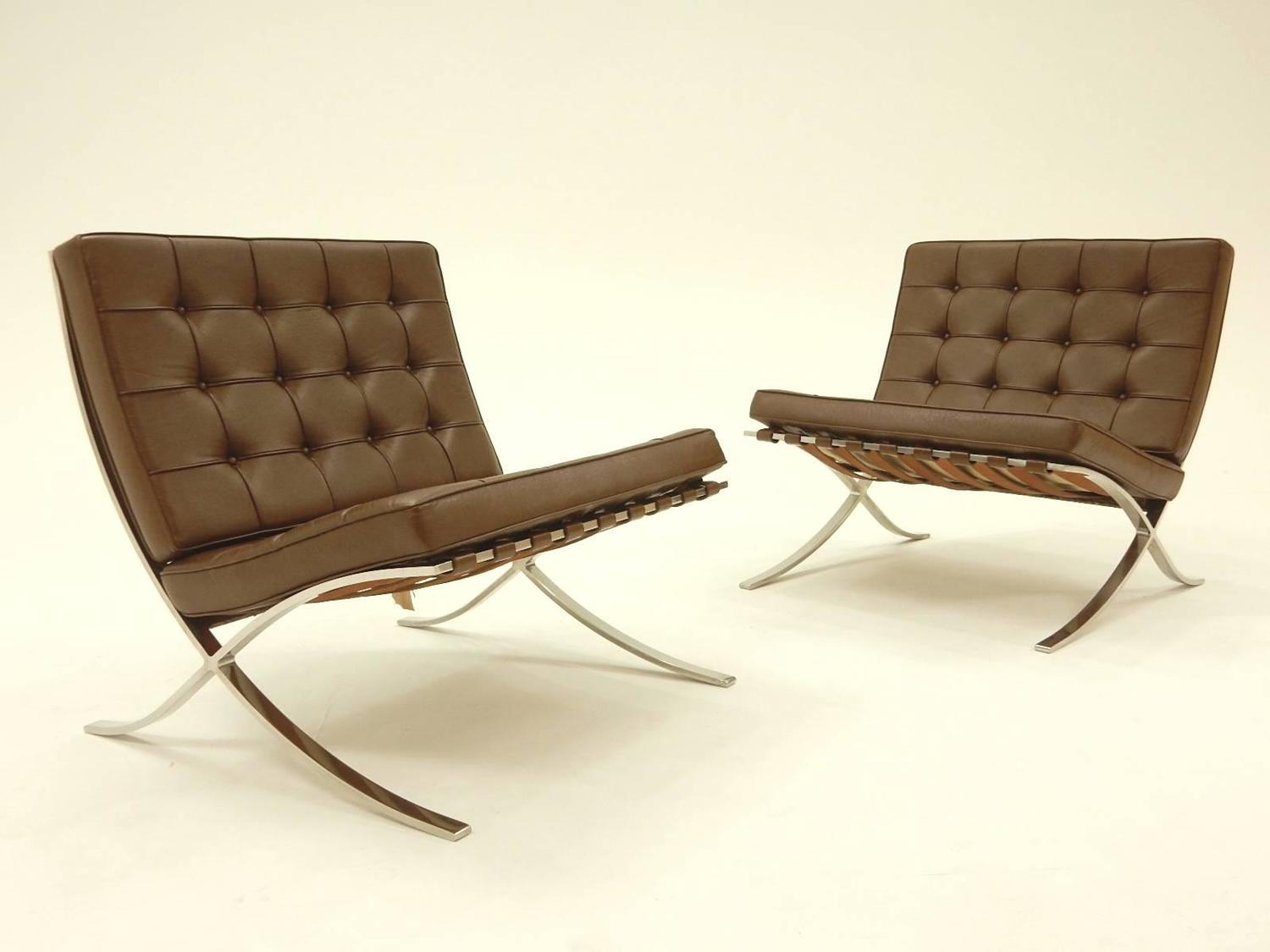 mies van der rohe for knoll international barcelona lounge chairs. Black Bedroom Furniture Sets. Home Design Ideas