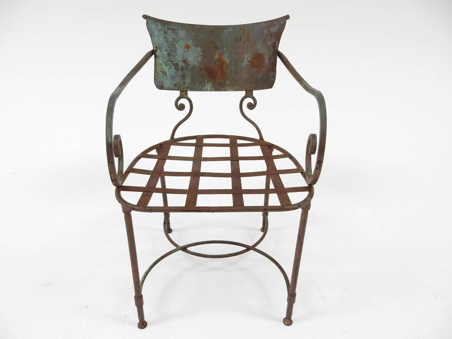 French Art Nouveau Sculptural Iron Garden Patio Chairs For Sale At 1stdibs