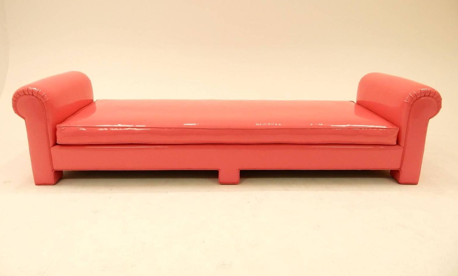 1974 Backless Sofa In Pink Naugahyde By California Furniture For Sale At 1stdibs