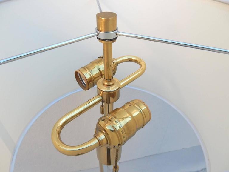 Mid Century Modern Hansen of New York Lucite and Brass