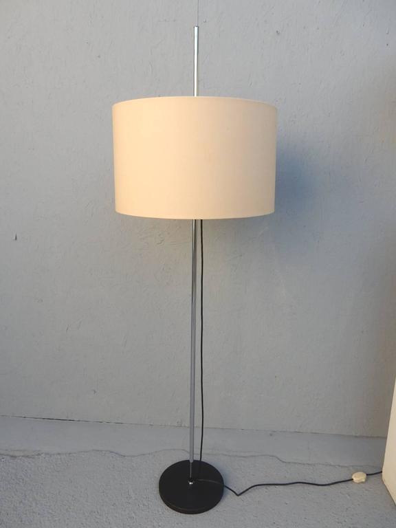 Mid Century 1960s Staff Leuchten Chrome Floor And Table Lamp Set At