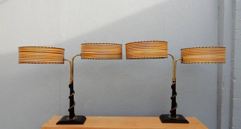 Pair Of Mid Century Modern Majestic Lamp Co Table Lamps