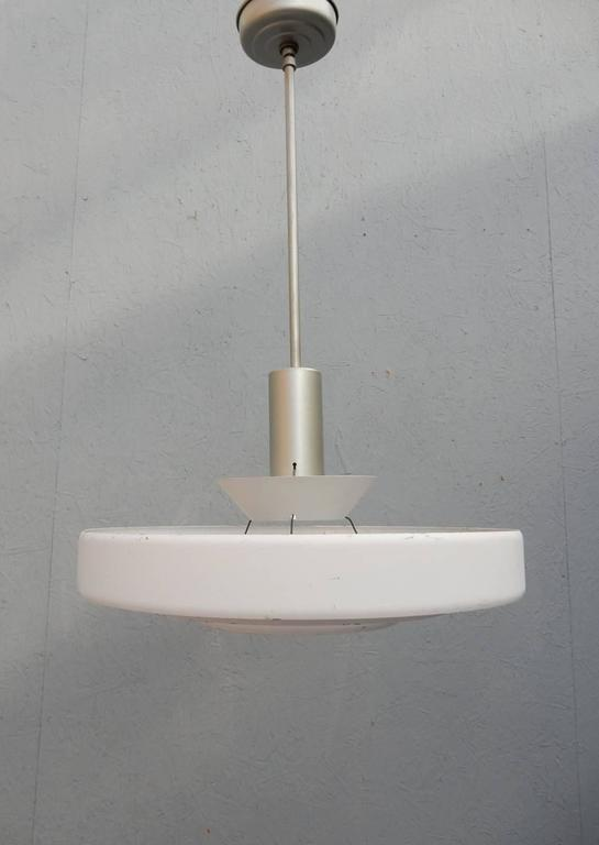 Industrial 1950s Kurt Versen Saturn Ring UFO Pendant Lamp For Sale