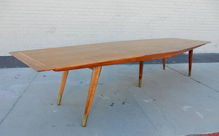 MidCentury Modern Foot Conference Table By StowDavis Circa - 12 foot conference room table