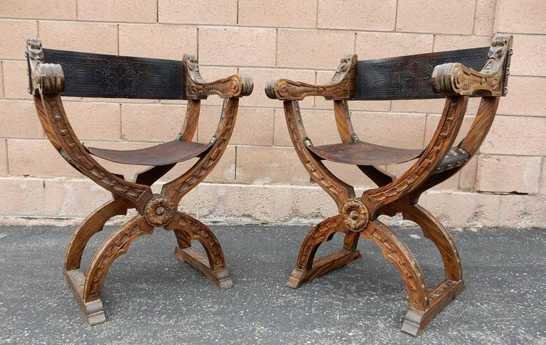 Gorgeous Set Of Six Chairs All Hand Carved