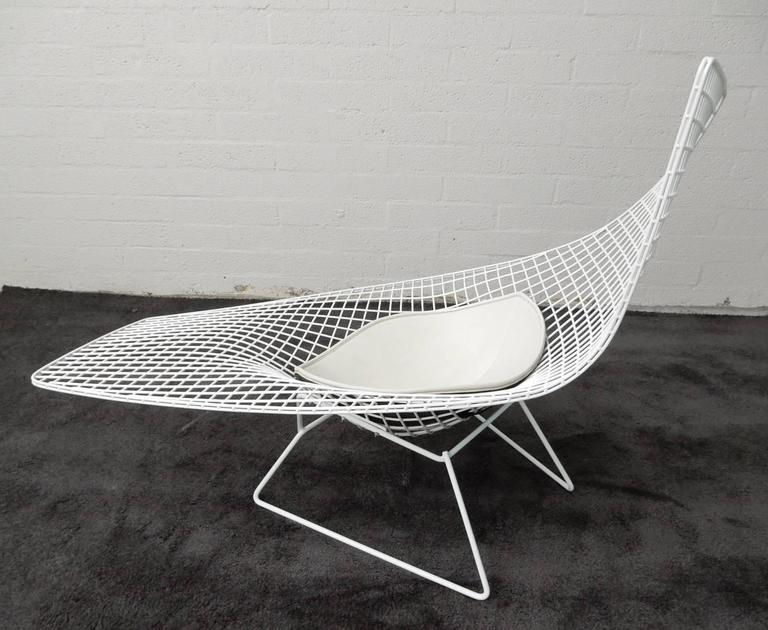 mid century modern harry bertoia knoll asymmetric sculptural wire chaise lounge for sale - Chaise Bertoia