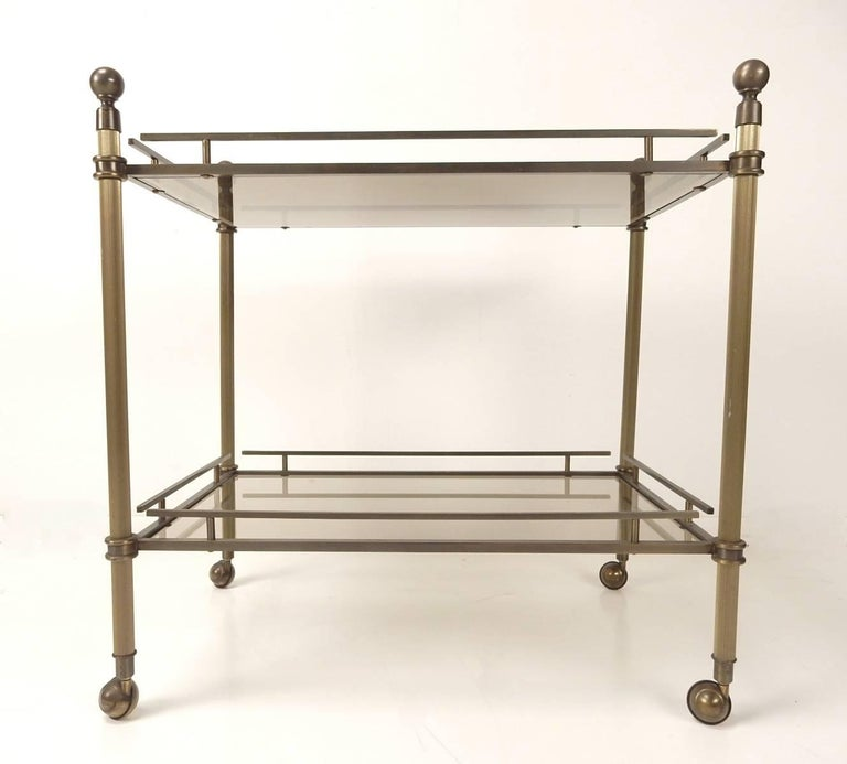 Rare Charles Hollis Jones Bronze Bar Cart Classic Model