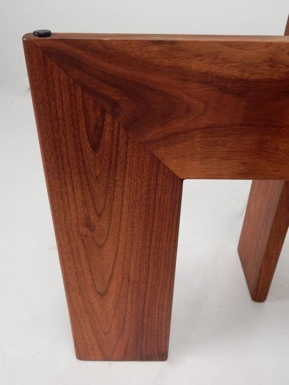 Mid-20th Century Mid-Century Adrian Pearsall Black Slate and Walnut Side Tables For Sale