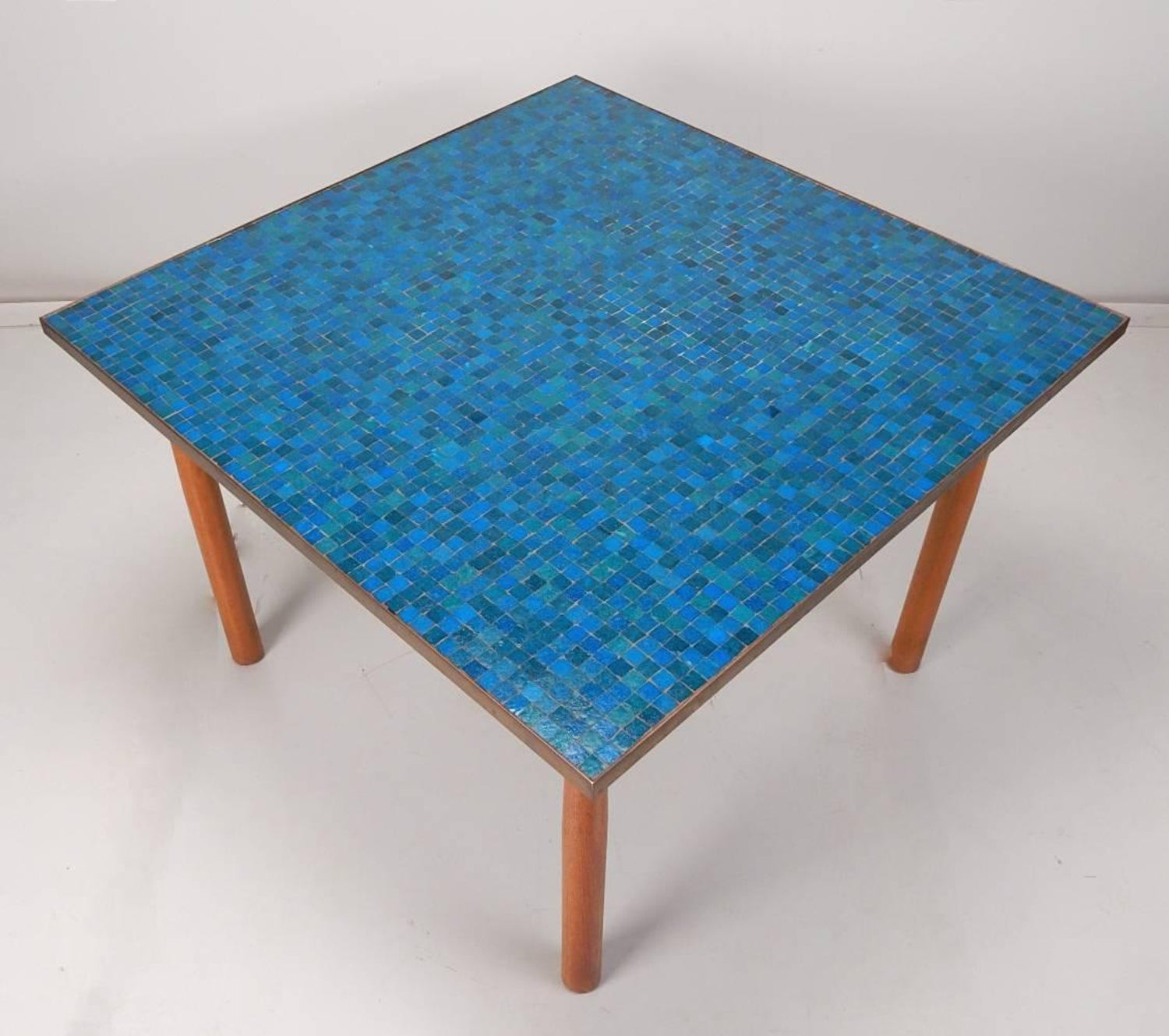 Edward Wormley for Dunbar Mosaic Art Glass Tile-Top with Dining ...