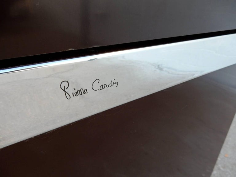 Mid-Century Modern Designer Pierre Cardin Buffet Bar Cabinet Signed, circa 1970s For Sale