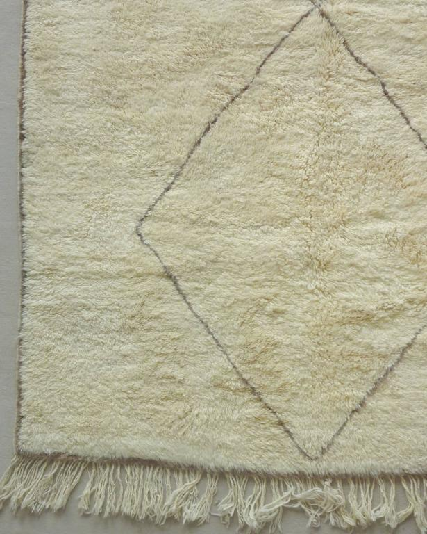 Soft Ivory Berber Rug At 1stdibs