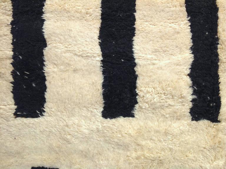 Large Contemporary Ivory And Black Moroccan Rug At 1stdibs