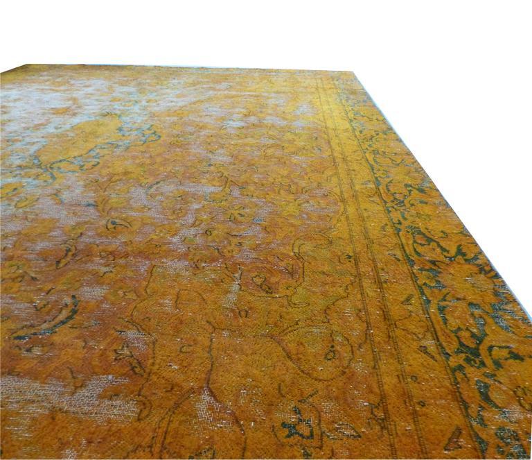 large deep orange gold color vintage carpet at 1stdibs