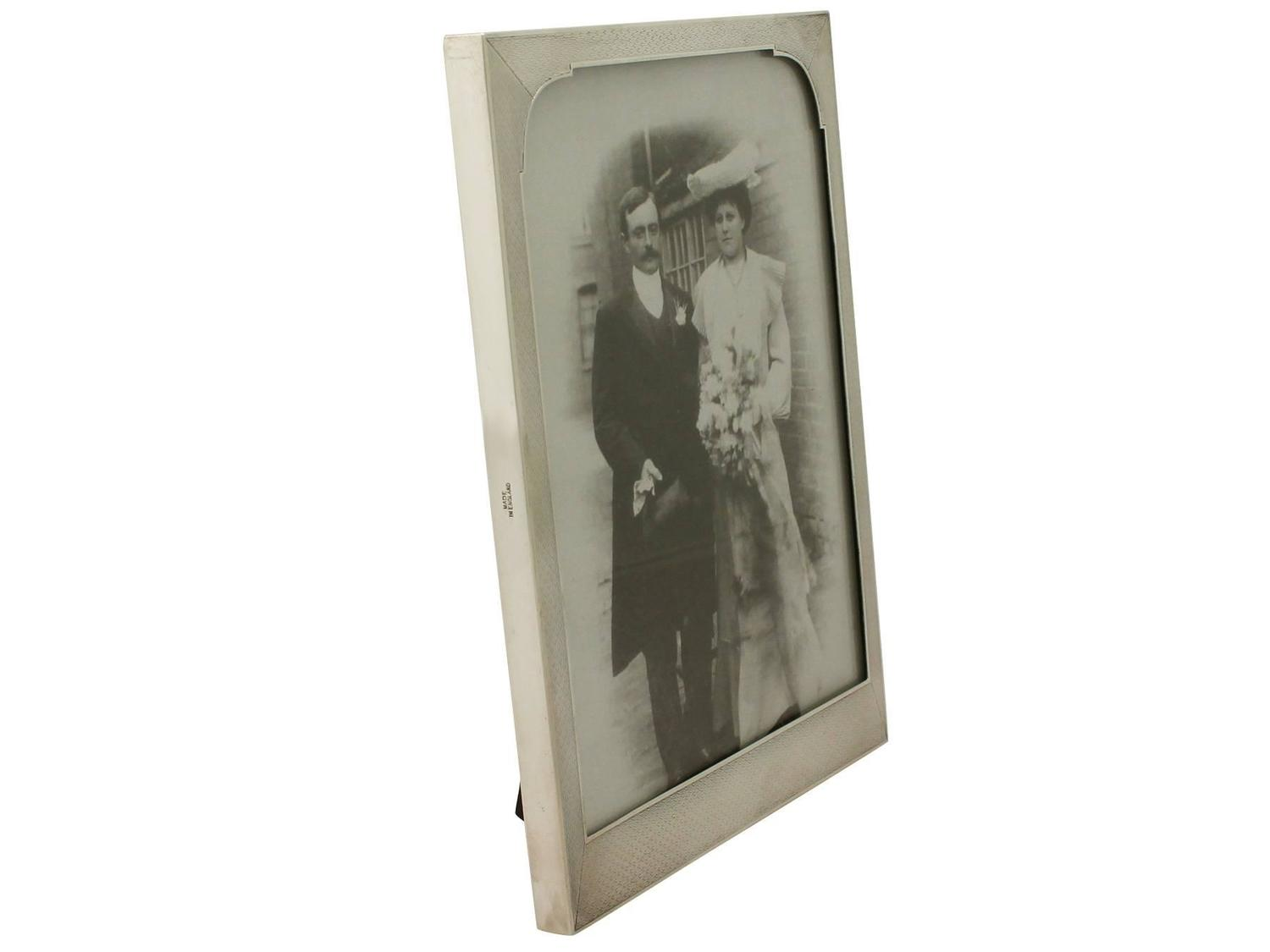 1950s George Vi Sterling Silver Photograph Frame For Sale