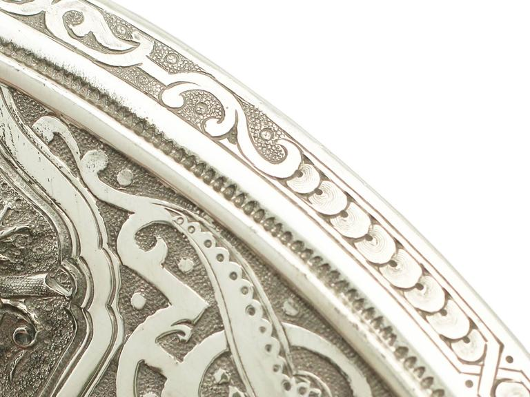 Antique Victorian Scottish Sterling Silver Tazza For Sale 1