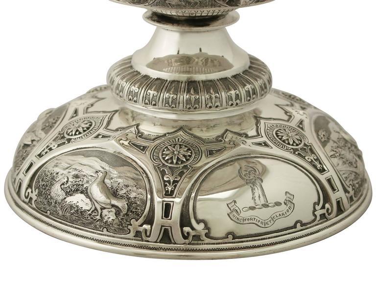 Late 19th Century Antique Victorian Scottish Sterling Silver Tazza For Sale