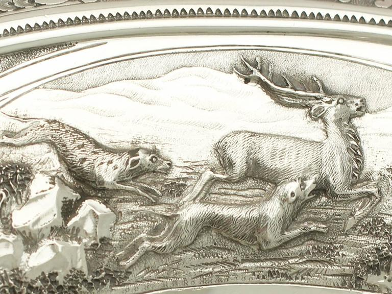 Antique Victorian Scottish Sterling Silver Tazza For Sale 3