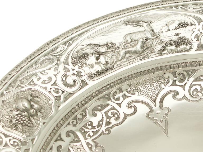 Antique Victorian Scottish Sterling Silver Tazza For Sale 2