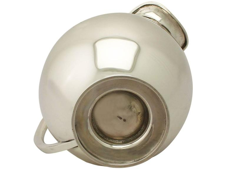 Vintage Design Style, Continental Sterling Silver Water Jug For Sale 3