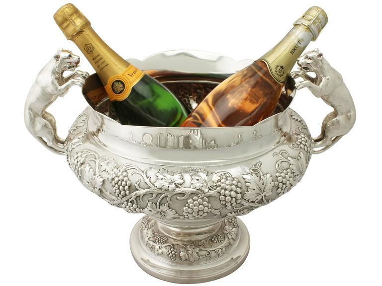 English Antique George V Sterling Silver Presentation Bowl For Sale