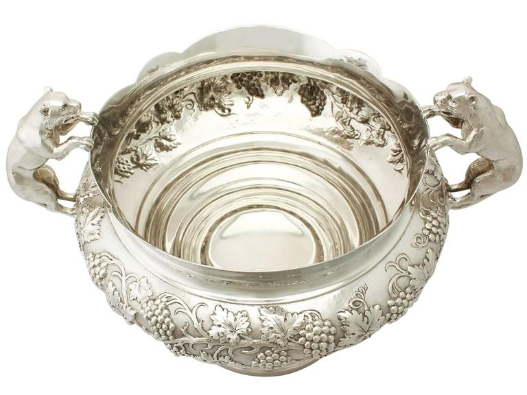 Antique George V Sterling Silver Presentation Bowl In Excellent Condition For Sale In Jesmond, Newcastle Upon Tyne