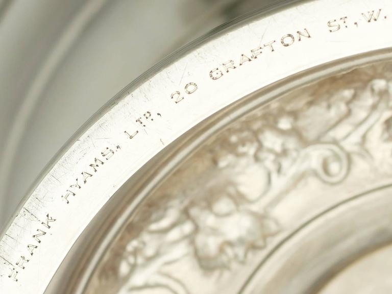 Antique George V Sterling Silver Presentation Bowl For Sale 5