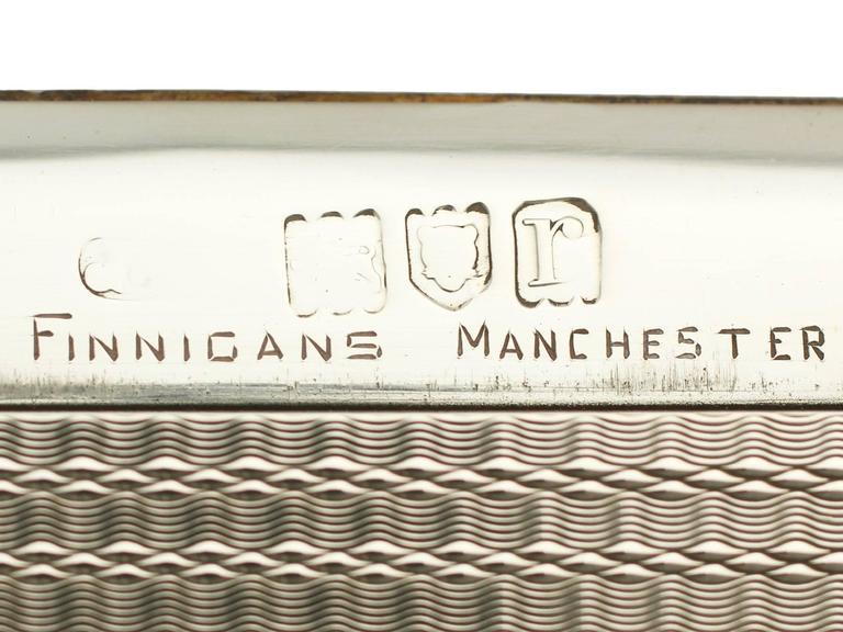 Antique Sterling Silver Cigarette Box For Sale 3