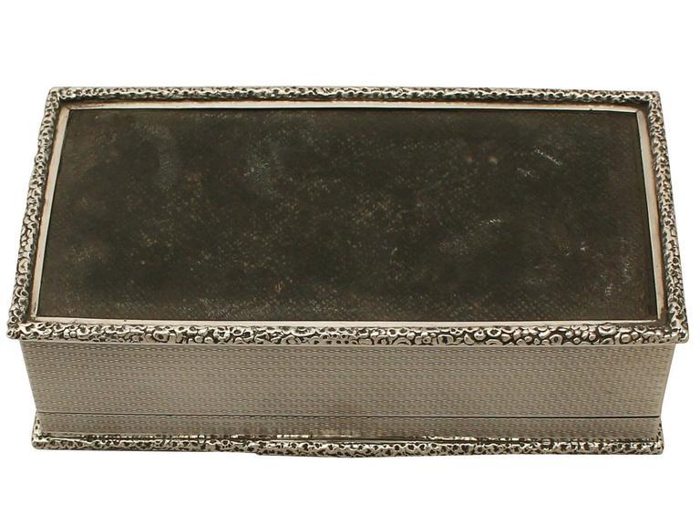 Antique Sterling Silver Cigarette Box For Sale 5