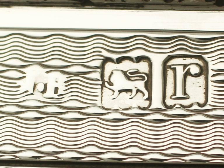 Antique Sterling Silver Cigarette Box For Sale 4