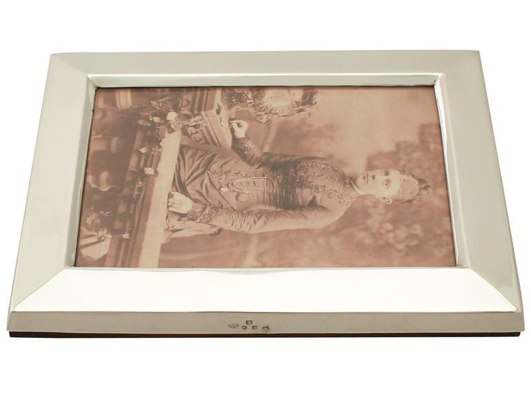 Antique Victorian Sterling Silver Photograph Frame For Sale 1