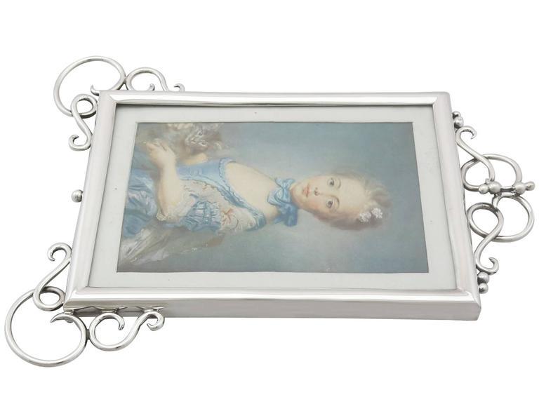 Antique Edwardian Sterling Silver Photograph Frame For Sale 1