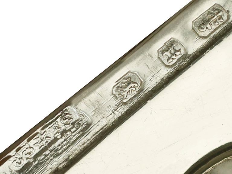 1890s Antique Victorian Sterling Silver Compass Vesta Case For Sale 2