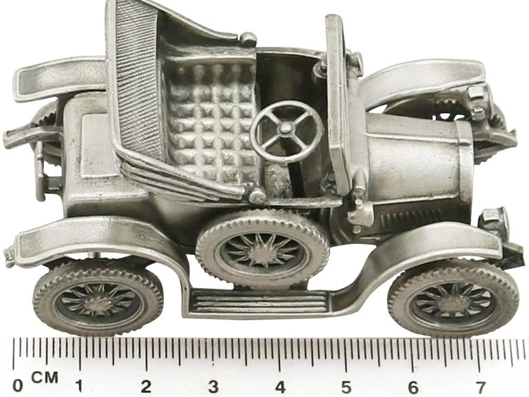 1970s  Italian Sterling Silver Car Models / Table Ornaments For Sale 6