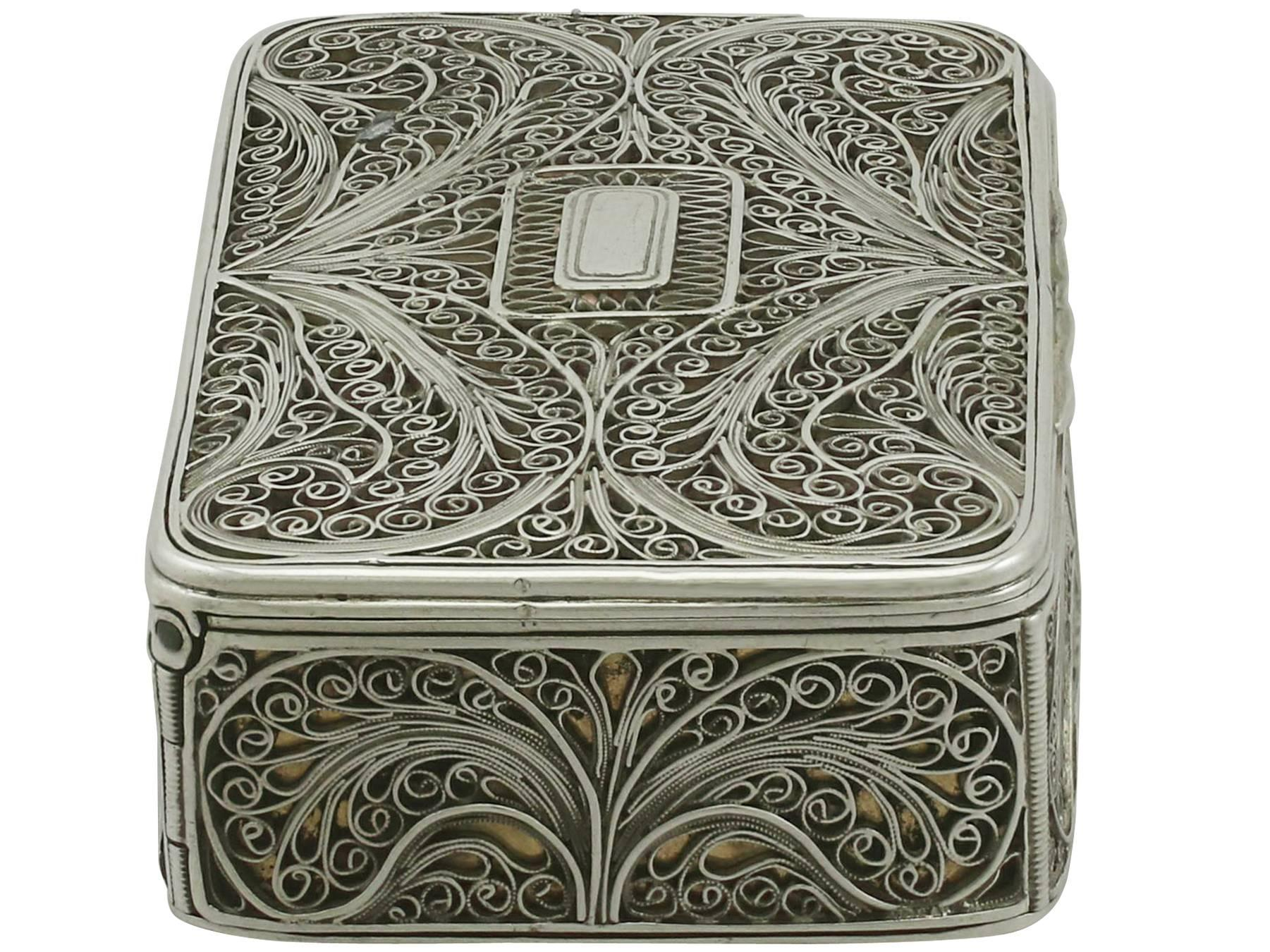 silver mirror square filigree product exclusive
