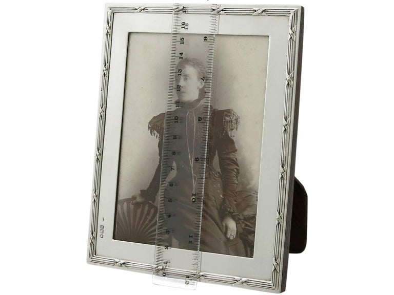 1903 Antique Edwardian Sterling Silver Photograph Frame For Sale 5