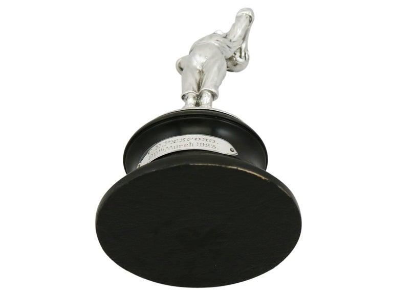 1910s Antique Edwardian Sterling Silver Football Presentation Trophy For Sale 2