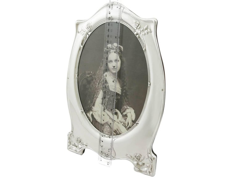 Antique George V 1910 Sterling Silver Photograph Frame For Sale 3
