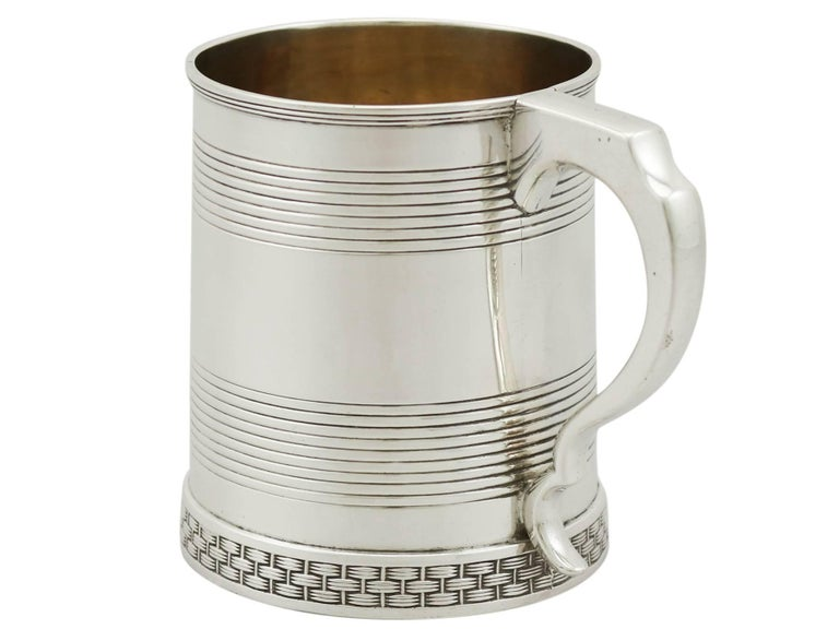 English 1809 Antique Sterling Silver Christening Mug For Sale