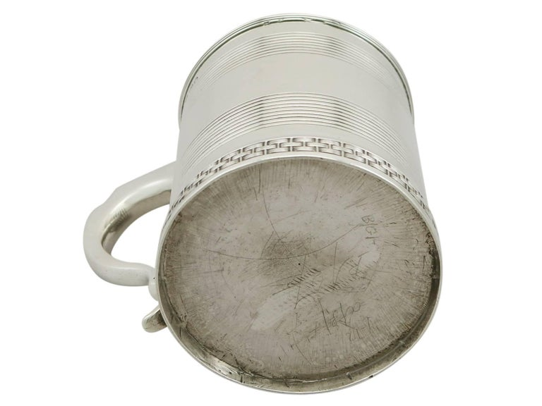 1809 Antique Sterling Silver Christening Mug For Sale 3