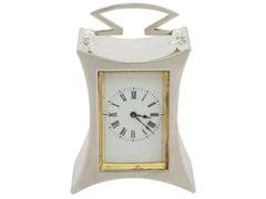 Antique Victorian 1890's Sterling Silver Boudoir Clock