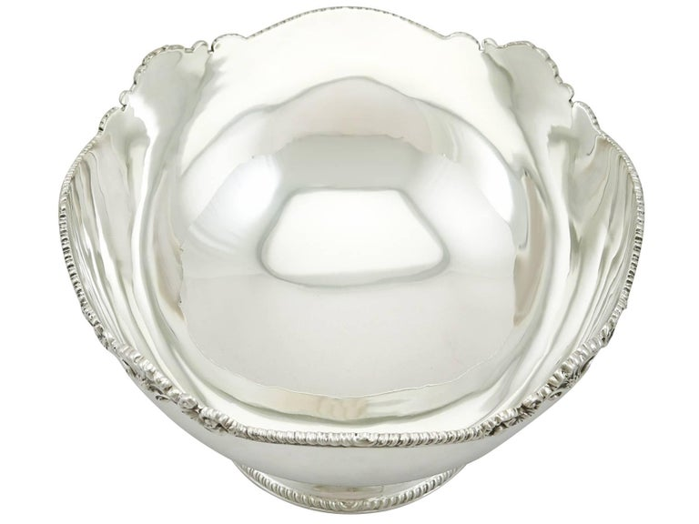 1980s Sterling Silver Bowl In Excellent Condition For Sale In Jesmond, Newcastle Upon Tyne